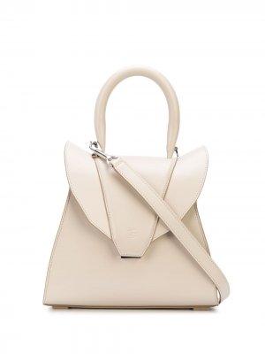 Структурированная сумка-тоут Elena Ghisellini. Цвет: нейтральные цвета