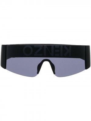 Солнцезащитные очки-маска Kenzo. Цвет: 01a