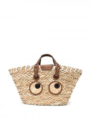 Соломенная сумка Eyes Anya Hindmarch. Цвет: коричневый