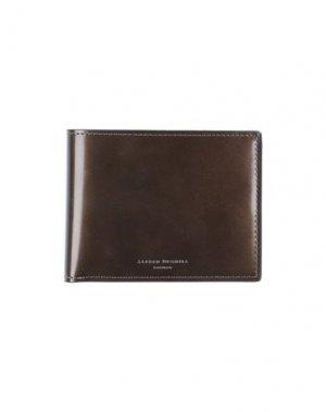 Бумажник DUNHILL. Цвет: золотистый
