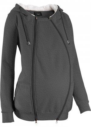 Куртка с защитной вставкой для малыша bonprix. Цвет: серый