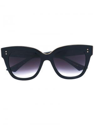 Солнцезащитные очки с массивной оправой Dita Eyewear. Цвет: чёрный
