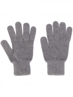 Перчатки с нашивкой-логотипом Calvin Klein. Цвет: серый