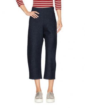 Джинсовые брюки-капри A.B APUNTOB. Цвет: синий