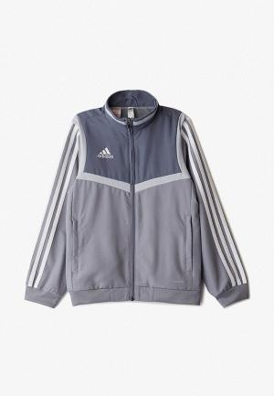 Олимпийка adidas. Цвет: серый