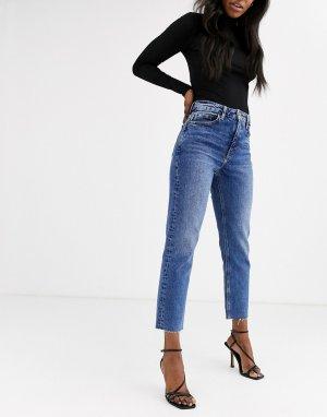 Выбеленные джинсы прямого кроя -Голубой Topshop