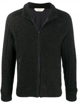 Трикотажная куртка на молнии Ermenegildo Zegna. Цвет: черный