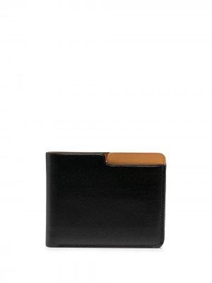 Бумажник в два сложения Isaac Reina. Цвет: черный