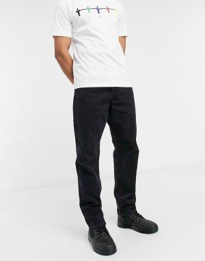 Винтажные черные джинсы свободного кроя Intelligence Chris-Черный цвет Jack & Jones