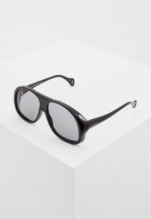 Очки солнцезащитные Gucci GG0243S002. Цвет: черный