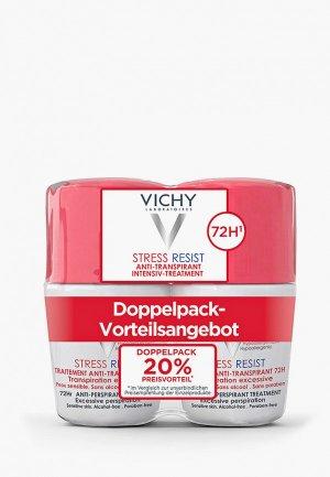 Дезодорант Vichy анти-стресс от избыточного потоотделения с защитой 72 часа, 50мл. -50% на второй продукт. Цвет: белый