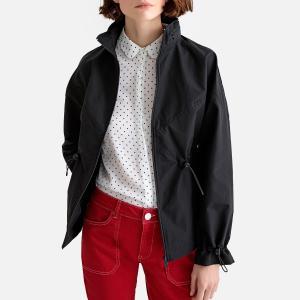Ветровка короткая с капюшоном LA REDOUTE COLLECTIONS. Цвет: сливовый,черный