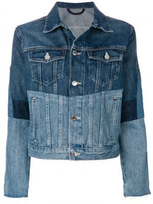 Patchwork denim jacket Helmut Lang. Цвет: синий
