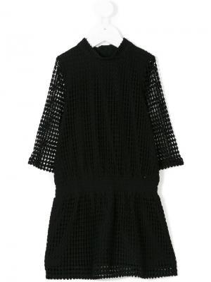 Платье с вырезными деталями Little Remix. Цвет: черный