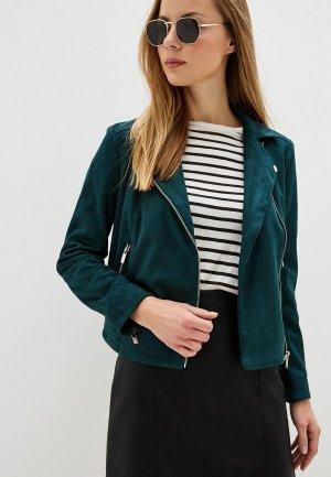 Куртка кожаная Dorothy Perkins. Цвет: зеленый