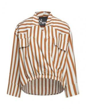 Блузка 8PM. Цвет: коричневый