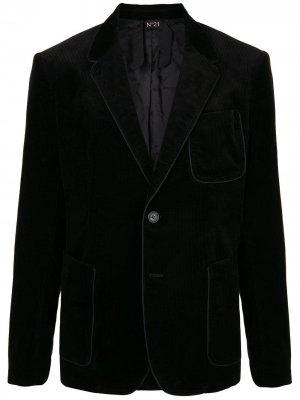 Вельветовый блейзер Nº21. Цвет: черный