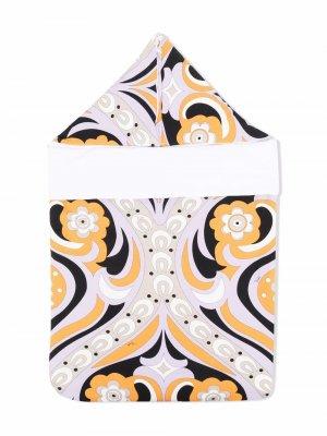 Конверт с капюшоном и графичным принтом Emilio Pucci Junior. Цвет: фиолетовый