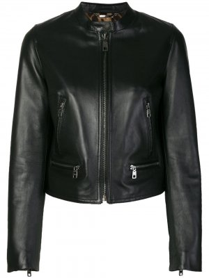 Classic leather jacket Dolce & Gabbana. Цвет: черный