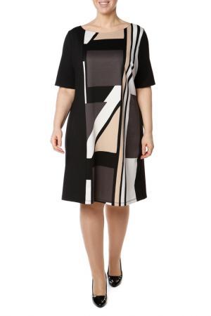 Платье Fiorella Rubino. Цвет: черный, коричневый