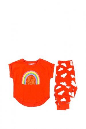 Пижама Minoti. Цвет: коралловый