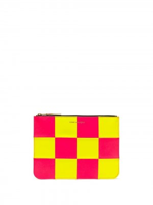 Fluo Square zipped pouch Comme Des Garçons Wallet. Цвет: желтый