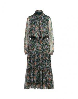 Платье миди LAUREN RALPH. Цвет: темно-зеленый