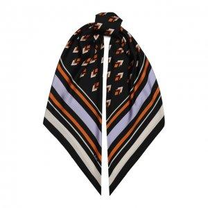 Шелковая шаль Garavani Valentino. Цвет: чёрный