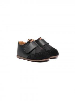 Туфли на липучках со вставками BabyWalker. Цвет: черный