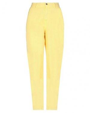 Повседневные брюки EUROPEAN CULTURE. Цвет: желтый