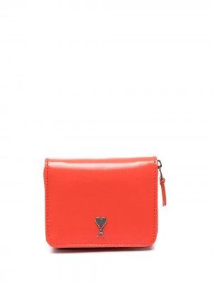Компактный кошелек с монограммой Ami de Coeur Paris. Цвет: красный