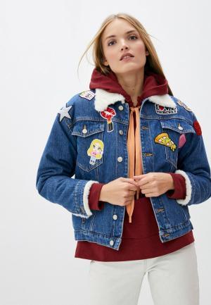 Куртка джинсовая Chiara Ferragni Collection. Цвет: синий