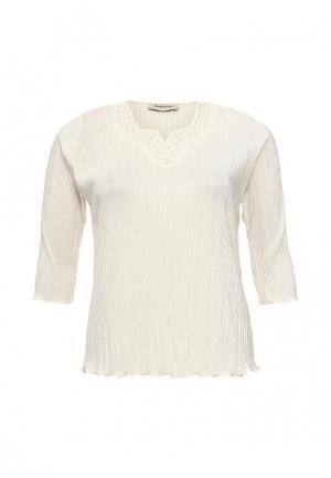 Блуза Bassini BA069EWSDT26. Цвет: бежевый