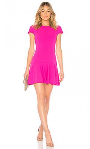 Платье hudson Amanda Uprichard. Цвет: розовый