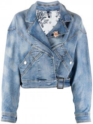 Джинсовая куртка оверсайз LIU JO. Цвет: синий