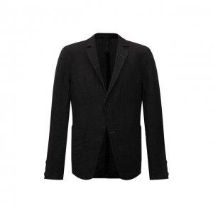 Льняной пиджак Transit. Цвет: серый