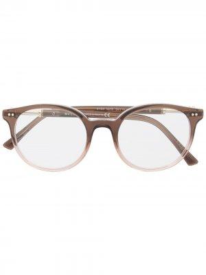 Очки с эффектом градиента Bvlgari. Цвет: коричневый
