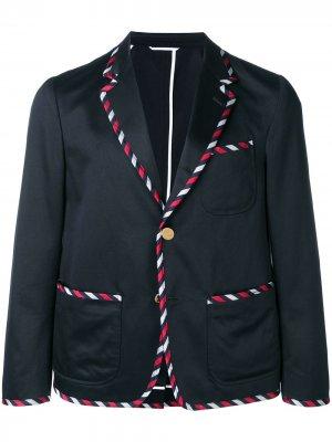 Пиджак-смокинг Thom Browne. Цвет: синий