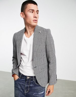 Пиджак в клетку «принц Уэльский» с цепочкой -Белый Twisted Tailor