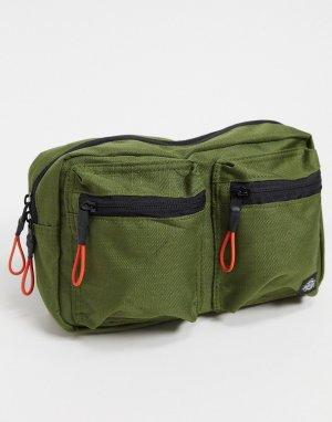 Оливковая сумка-кошелек на пояс -Зеленый Dickies
