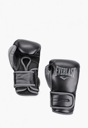 Перчатки боксерские Everlast Powerlock PU. Цвет: черный