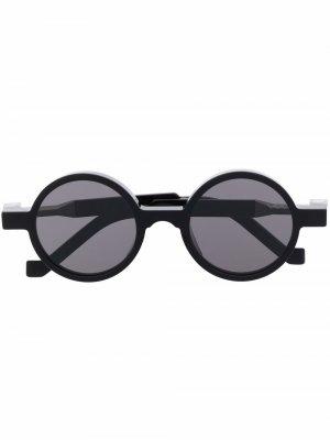 Солнцезащитные очки в круглой оправе VAVA Eyewear. Цвет: черный