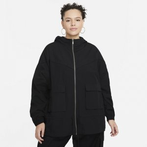 Женская куртка Sportswear Icon Clash (большие размеры) - Черный Nike