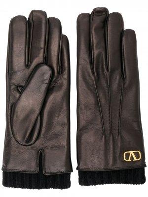 VLOGO gloves Valentino Garavani. Цвет: черный