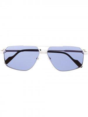 Солнцезащитные очки-авиаторы C de Cartier Eyewear. Цвет: серебристый