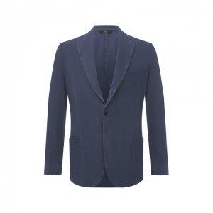 Шелковый пиджак Brioni. Цвет: синий