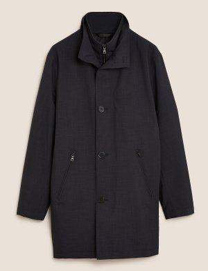 Макинтош утепленный с высокой горловиной и технологией Stormwear™ Autograph. Цвет: серый микс