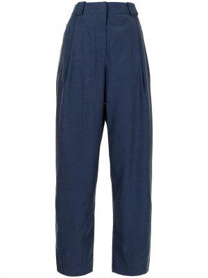 Pleated straight-leg trousers Giorgio Armani. Цвет: синий