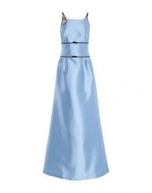 Длинное платье LALTRAMODA. Цвет: небесно-голубой