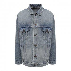 Джинсовая куртка Balenciaga. Цвет: голубой